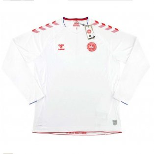 2018-2019 Denmark Hummel Away Long Sleeve Football Shirt