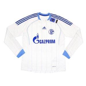 2011-12 Schalke Adidas Away Authentic Long Sleeve Football Shirt