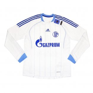 2011-12 Schalke Adidas Away Authentic Long Sleeve Football Shirt