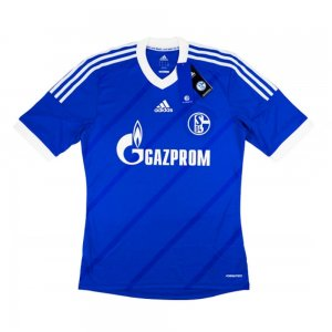 2013-14 Schalke Adidas Home Authentic Football Shirt