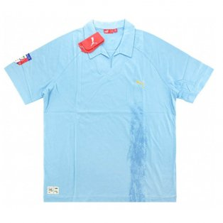 2007-08 Italy Puma Polo T-shirt (Sky)