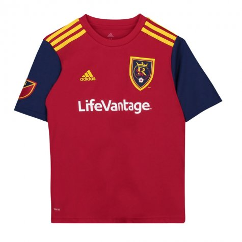 2018 Real Salt Lake Adidas Home Football Shirt - Kids