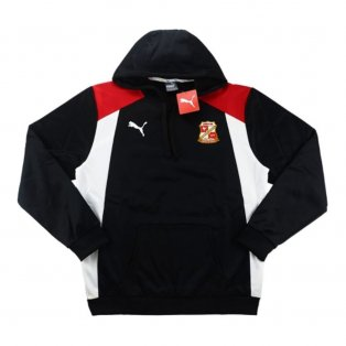 2016-17 Swindon Town Puma Hooded Training Top (Black)