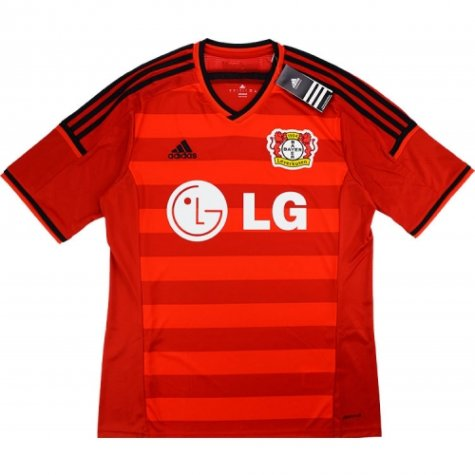 2014-15 Bayer Leverkusen Adidas Home Authentic Football Shirt