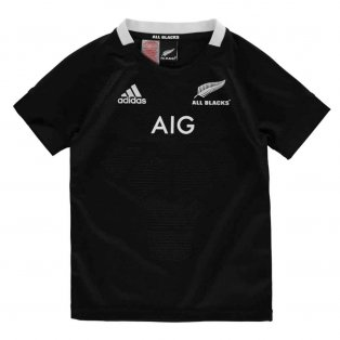 2018-2019 New Zealand Adidas Home Rugby Shirt (Kids)