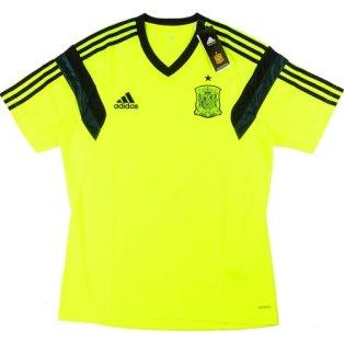 2014-15 Spain Adidas Training Shirt (Volt)