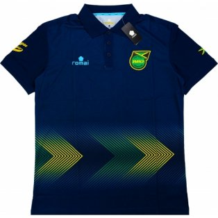 2015-16 Jamaica Romai Polo Shirt (Navy)