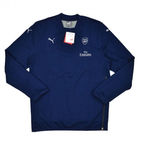2015-16 Arsenal Puma Authentic Casuals Sweat Top (Navy)