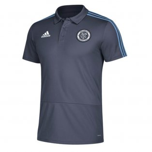 2018 New York City Adidas Coaches Polo Shirt (Sky Blue)