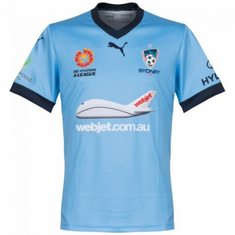 2016-17 Sydney FC Puma Authentic Home Football Shirt