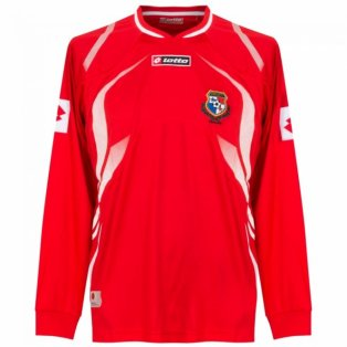 2009-10 Panama Lotto Home Long Sleeve Football Shirt