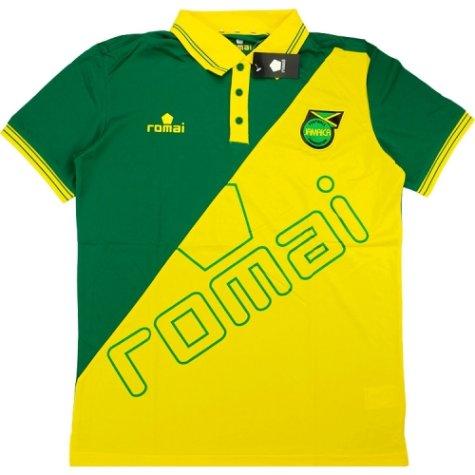 2015-16 Jamaica Romai Polo Shirt (Green-Yellow)