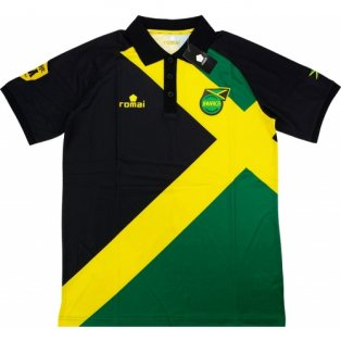 2015-16 Jamaica Romai Polo Shirt (Black-Yellow)