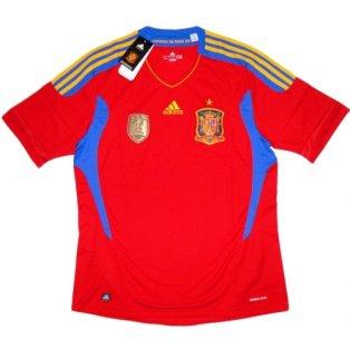 2010-11 Spain Adidas Home Football Shirt