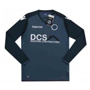 2018-2019 Millwall Macron Authentic Away Long Sleeve Football Shirt