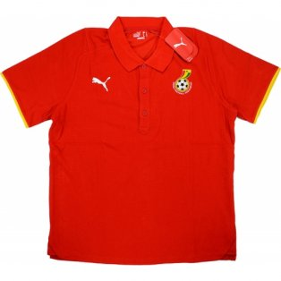 2008-09 Ghana Puma Polo Shirt (Red)