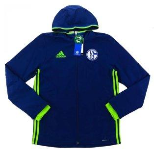 2016-17 Schalke Adidas Presentation Jacket (Navy)