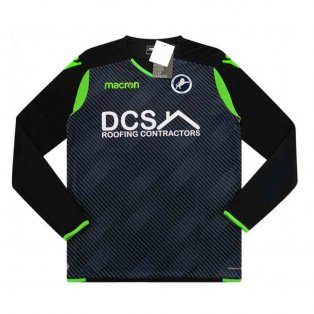 2018-2019 Millwall Macron Authentic Third Long Sleeve Goalkeeper Shirt