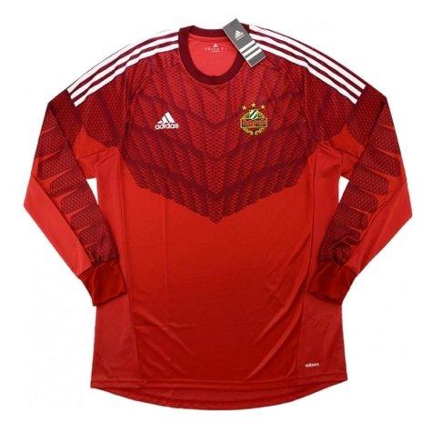 2014-15 Rapid Vienna Adidas Athentic Away Long Sleeve Goalkeeper Shirt