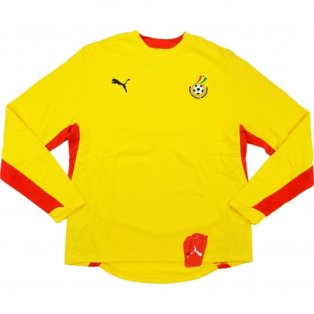 2008-09 Ghana Puma Training Sweat Top (Yellow)