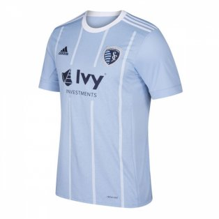 2018 Sporting Kansas City Adidas Home Football Shirt - Kids