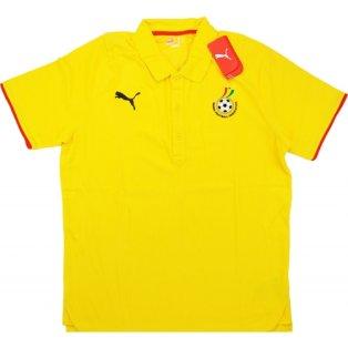 2008-09 Ghana Puma Polo Shirt (Yellow)
