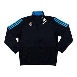 2014-15 Real Sociedad Adidas Anthem Jacket (Black)