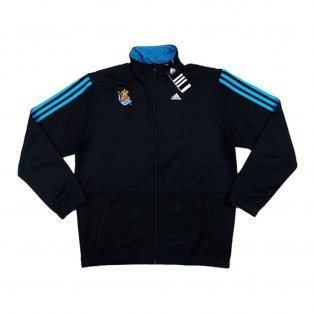 2014-15 Real Sociedad Adidas Anthem Jacket (Black)