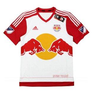 2015-16 New York Redbulls Adidas Home Authentic Football Shirt