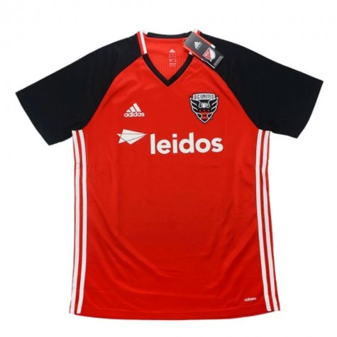 0358d29926d 2016-17 DC United Adidas Training Shirt - Red - Uksoccershop