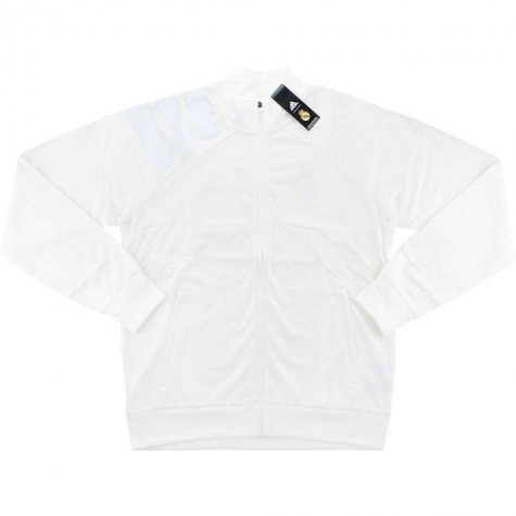 2017-18 Real Madrid Adidas L.I. Track Jacket (White)
