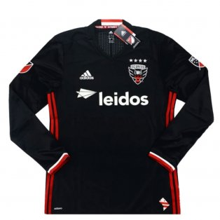 2016-17 DC United Adidas Authentic Home Long Sleeve Shirt