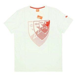 2015-16 Red Star Belgrade Puma Logo Tee (White)