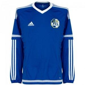 2015-16 FC Luzern Adidas Authentic Home Long Sleeve Football Shirt