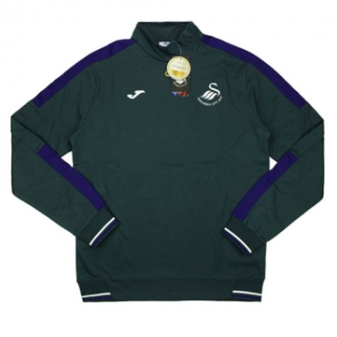 2016-2017 Swansea Joma 1/2 Zip Training Sweat Top (Grey)