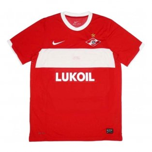 2011 Spartak Moscow Nike Home Authentic European Football Shirt