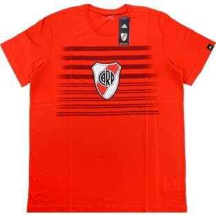 2016-2017 River Plate Adidas Graphic Tee (Red)