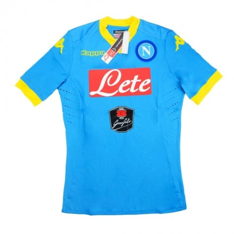 2015-16 Napoli Kappa Authentic European Goalkeeper Shirt