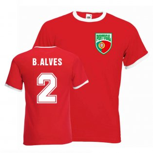 Bruno Alves Portugal Ringer Tee (red)