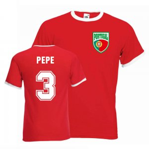 Pepe Portugal Ringer Tee (red)