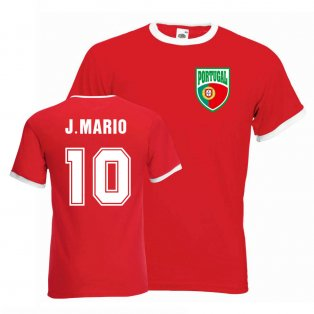 Joao Mario Portugal Ringer Tee (red)