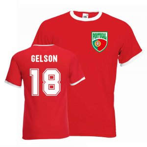 Gelson Martins Portugal Ringer Tee (red)