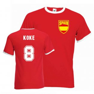 Koke Spain Ringer Tee (red)