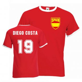 Diego Costa Spain Ringer Tee (red)