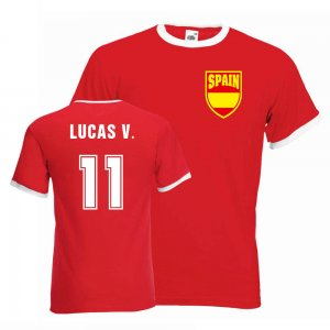 Lucas Vazquez Spain Ringer Tee (red)