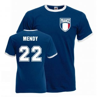 Benjamin Mendy France Ringer Tee (blue)