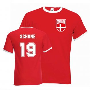 Lasse Schone Denmark Ringer Tee (red)