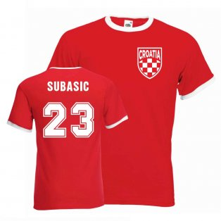 Danijel Subasic Croatia Ringer Tee (red)