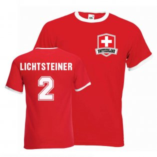 Stephan Lichtsteiner Switzerland Ringer Tee (red)