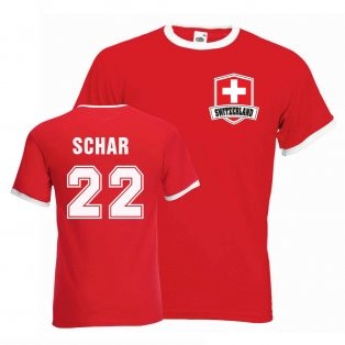 Fabian Schar Switzerland Ringer Tee (red)